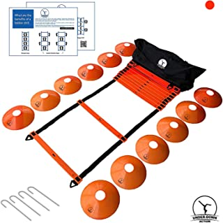 Agility Sport Ladder Training Set For Better Speed & Health Ideal Fitness Exercise Equipment For Sports. Comes With Cones,...