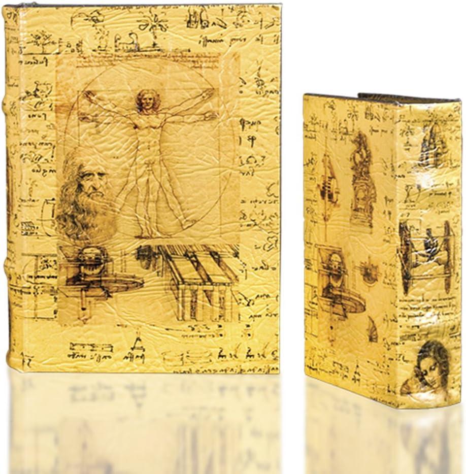 OFFer Leonardo da Vinci Antique SEAL limited product Style Nesting Box Decorative Book Set