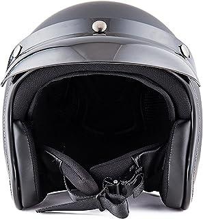 Romacci Capacete vintage unissex-adulto de rosto aberto para motocicletas Cruiser Equipamento Cool Rider Four Seasons com ...