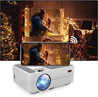 Mini Projector Portable Bluetooth Projector with WiFi, Support Airplay Wireless Screen Sync, Movie Projector for Gaming Pa...