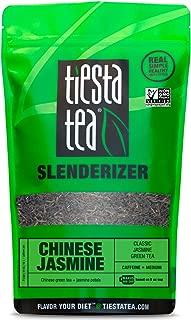Tiesta Tea Chinese Jasmine Classic Jasmine Green Tea, 200 Servings 1 Lb Bag, Medium Caffeine, Loose Leaf Green Tea Slenderizer Blend, Non-GMO