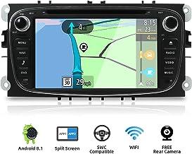 YUNTX Android 8.1 Autoradio para Ford Focus/Mondeo/S-MAX/Connect (2008-2011) | 2 DIN |Cámara Trasera y canbus Gratis| 7 Pulgada | 2GB/32GB | Soporte Dab+ | 4G | WLAN | Bluetooth | MirrorLink (Black)