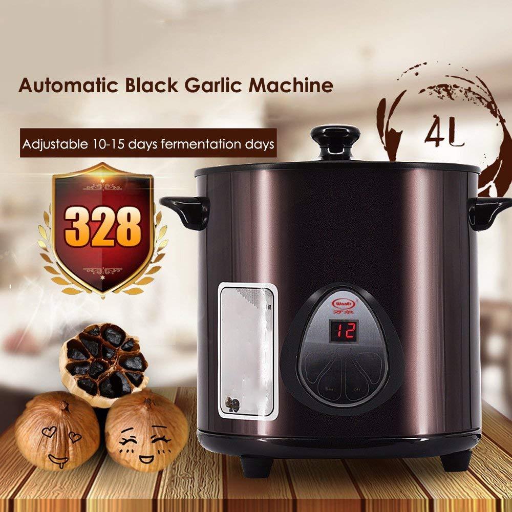 QIN.J.FANG-Menaje de cocina Máquina de ajo negro de 70 vatios, robot de cocina para el hogar de máquina de fermentación de ajo inteligente 4L: Amazon.es: Hogar