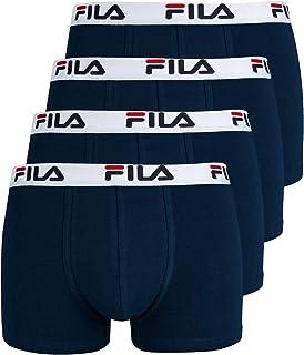 Fila 4 Pacco Convenienza Uomo Boxer - Logo Pants - Monocolore - Molti Colori