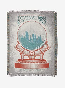 Hot Topic Harry Potter Divination Woven Tapestry Throw Blanket