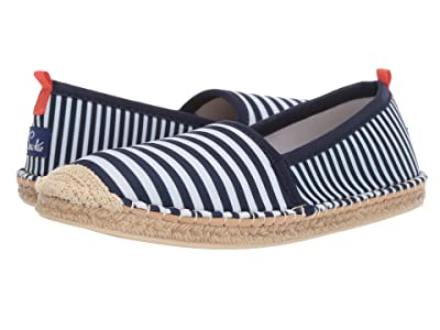 Sea Star Beachwear Beachcomber Espadrille Water Shoe (Navy/White Mixed Stripe) Women