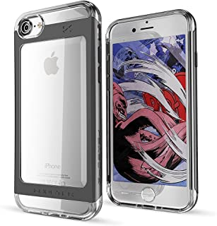 Ghostek iPhone 7 8 Case, Cloak 2 Series for Apple iPhone 8 Slim Protective Armor Case Cover | Tempered Glass Screen Protector | Aluminum Frame | TPU Shell | Durable | Warranty | Ultra Fit (Black)