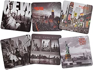 New York / NY NYC B&W Photo Beer and Drink Coaster Pack of 6