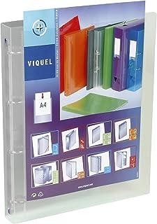 Viquel - Classeur souple en plastique 4 anneaux - Classeur personnalisable dos 3,5cm - Etiquette d'identification - Format...