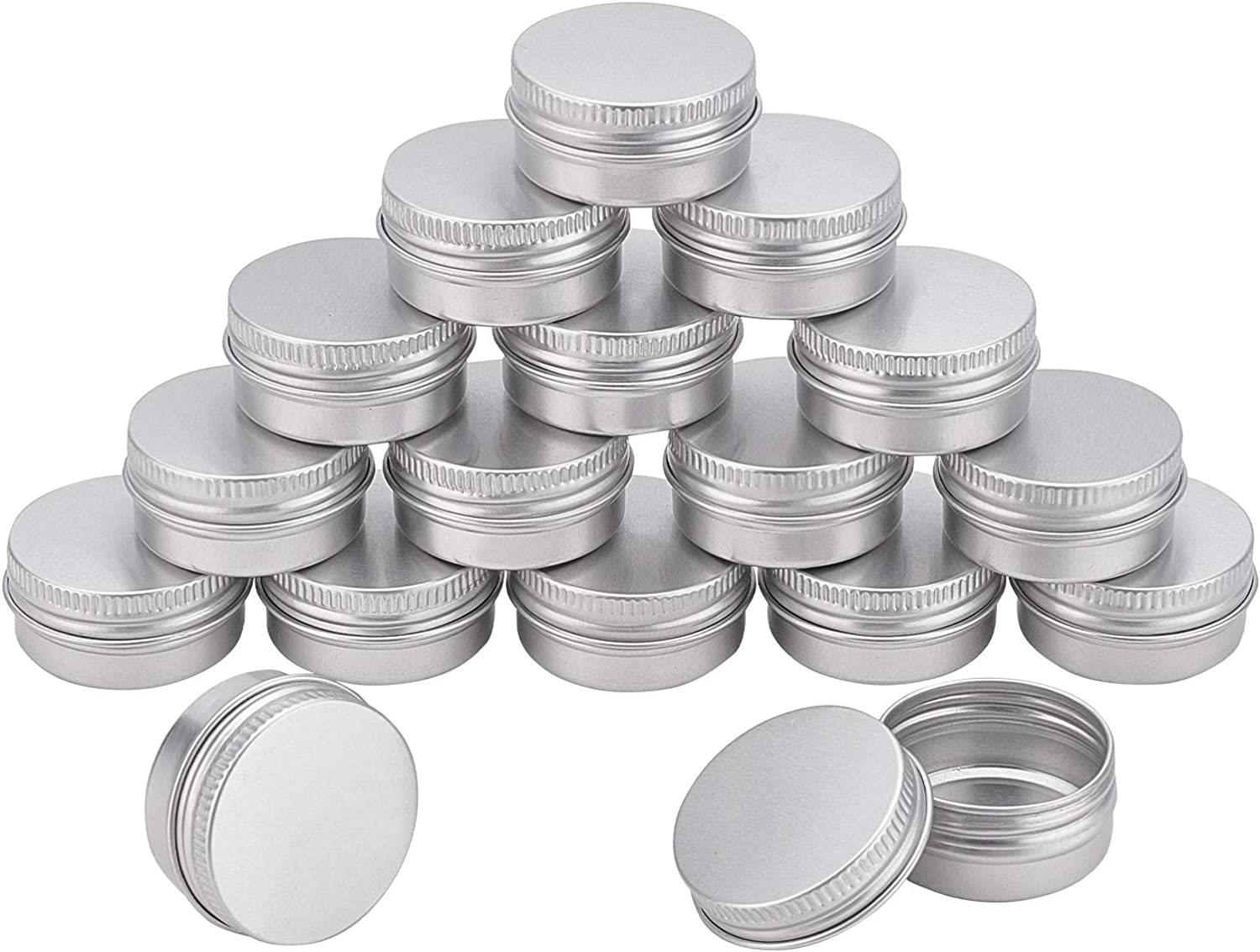NBEADS 36 Pcs 10g Aluminum Round service Travel Container Tin Cans Tins Challenge the lowest price of Japan