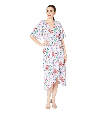B Collection by Bobeau Orna Wrap Dress (Lilac Meadow Floral) Women