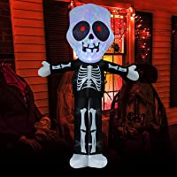 LOOHUU 9.8-Ft Halloween Inflatable Skeleton Ghost Deals