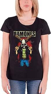 Ramones T Shirt Gabba Gabba Hey Pinhead Official Womens Junior Fit Black
