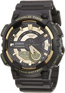 Casio Watch For Men Ana-Digi Dial Resin Band - AEQ-110BW-9AV
