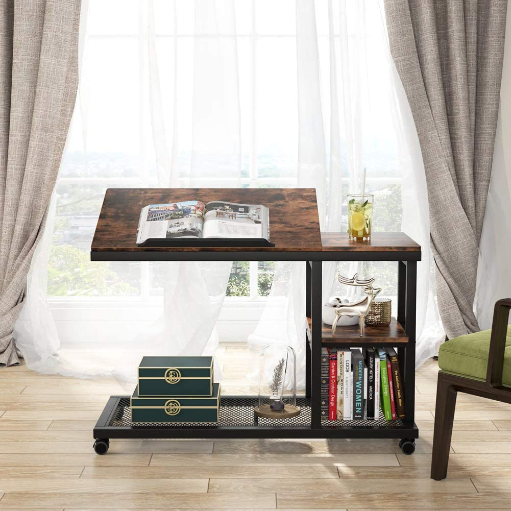 Home & Kitchen End Tables horeto.com Brown Tribesigns C Table with ...