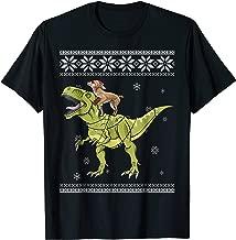 Chihuahua Riding T Rex Dinosaur Christmas Light Xmas Tshirt