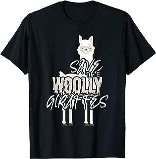 Save Alpacas Wool Shirt - The Woolly Giraffes Tshirt  T-Shirt