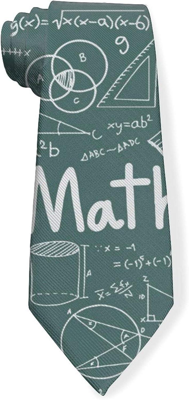 Math Mathematical Formula Equation Mens Classic Color Slim Tie, Men's Neckties, Fashion Boys Cravats