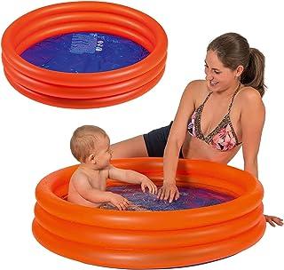Smart Planet Baby Pool - Mini Kinder Planschbecken 100 cm Kleiner Pool zum Baden für Babys und Kleinkinder - Aufblasbarer Swimmingpool zum Planschen
