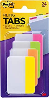 Post-it Filing Durable Tabs Assorted Brights 50.8mm x 38.1mm 686-PLOY