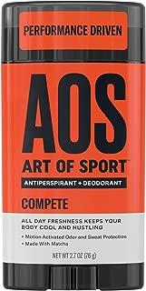 Art of Sport Men's Antiperspirant Deodorant Stick (4-Pack), Compete Scent, Athlete-Ready Formula with Matcha, 2.7 oz