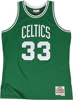Larry Bird Boston Celtics Mitchell and Ness Men's Green Throwback Jesey