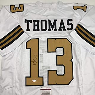 Autographed/Signed Michael Thomas New Orleans Color Rush Football Jersey JSA COA