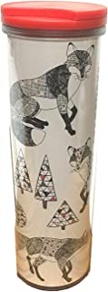 Rare-Starbucks Holiday Geometric Trees & Fox 16oz Acrylic Tumbler 2017