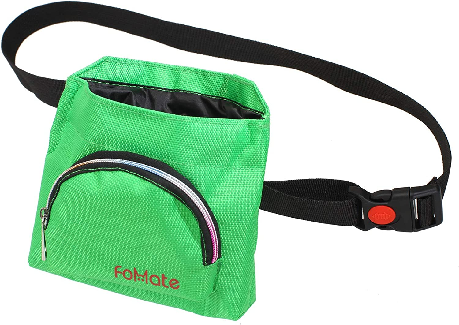 FOMATE Treat Pouch, Convenient Dog Cat Training Accessory (Green)