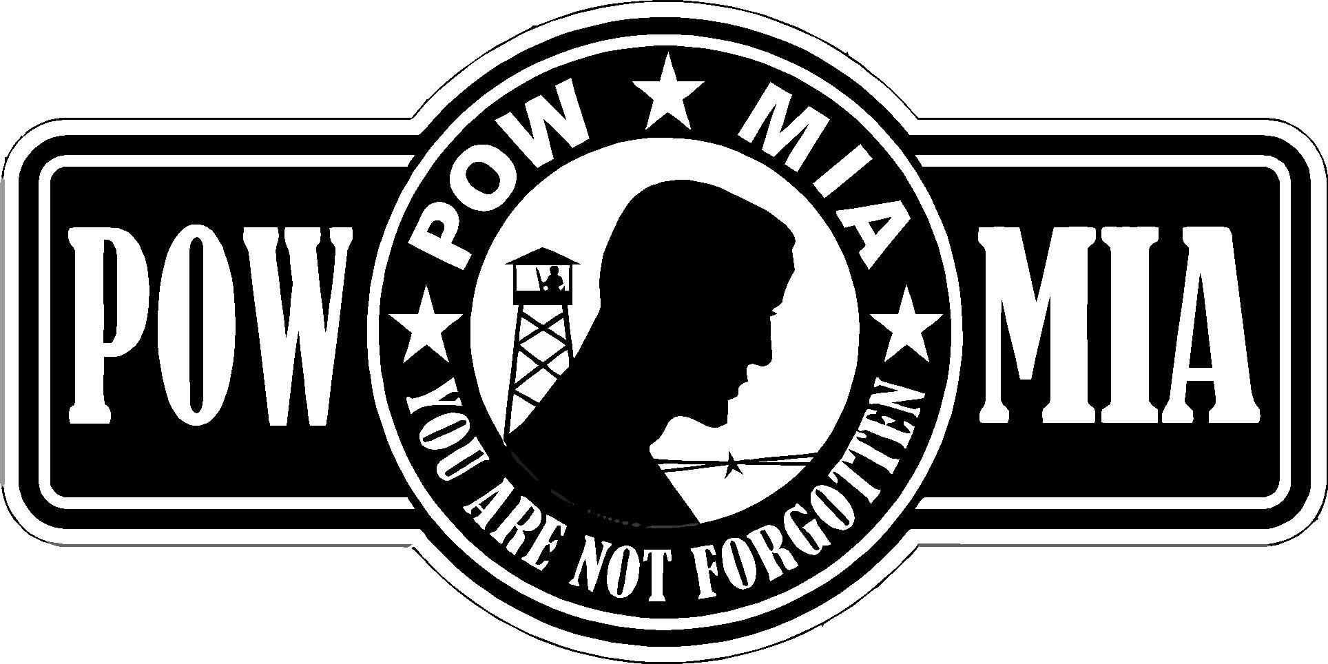 "POW MIA You Are Not Forgotten 9/"" x 3/"" Bumper Sticker Decal Military War Prisoner"