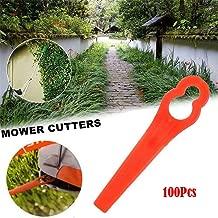 100 Pcs Plastic Cutter for Stihl PolyCut 2-2 Garden Lawn Mower Trimmer Blades 4008 007 1000 Grass Cutter Replacement Accessories Tool (100)