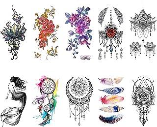 CARGEN® 10 Blätter Temporäre Tattoos Blütenblatt Tattoo