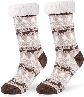 Donna SOFT COMFORT PAW IN PILE LETTO Lounge in gomma antiscivolo calzini antiscivolo taglia unica