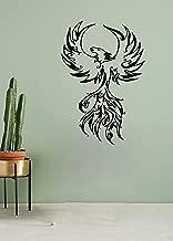 Wall Decals Vinyl Graphics Stickers Phoenix Bird Rising Phoenix Flying Tribal Tattoo Art Decor Pattern Image DB0009
