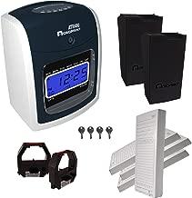 Acroprint ATR480 Automatic Totalizing Time Clock Bundle, 200 Cards, 2 Ribbons, 2 Racks, 4 Keys