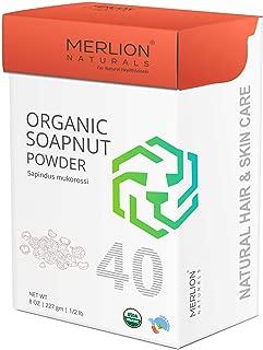 Organic Soapnut Powder by Merlion Naturals   Reetha/Sapindus mukorossi   227gm/ 8OZ/ 1/2lb   USDA NOP Certified 100% Organic
