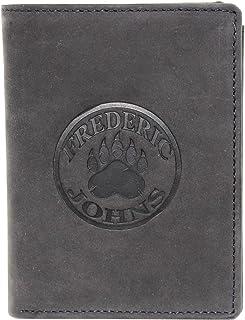 Portefeuille Homme Cuir Véritable, Portefeuille Permis de Conduire, Portefeuille RFID, Portefeuille Vintage Frédéric&Johns...