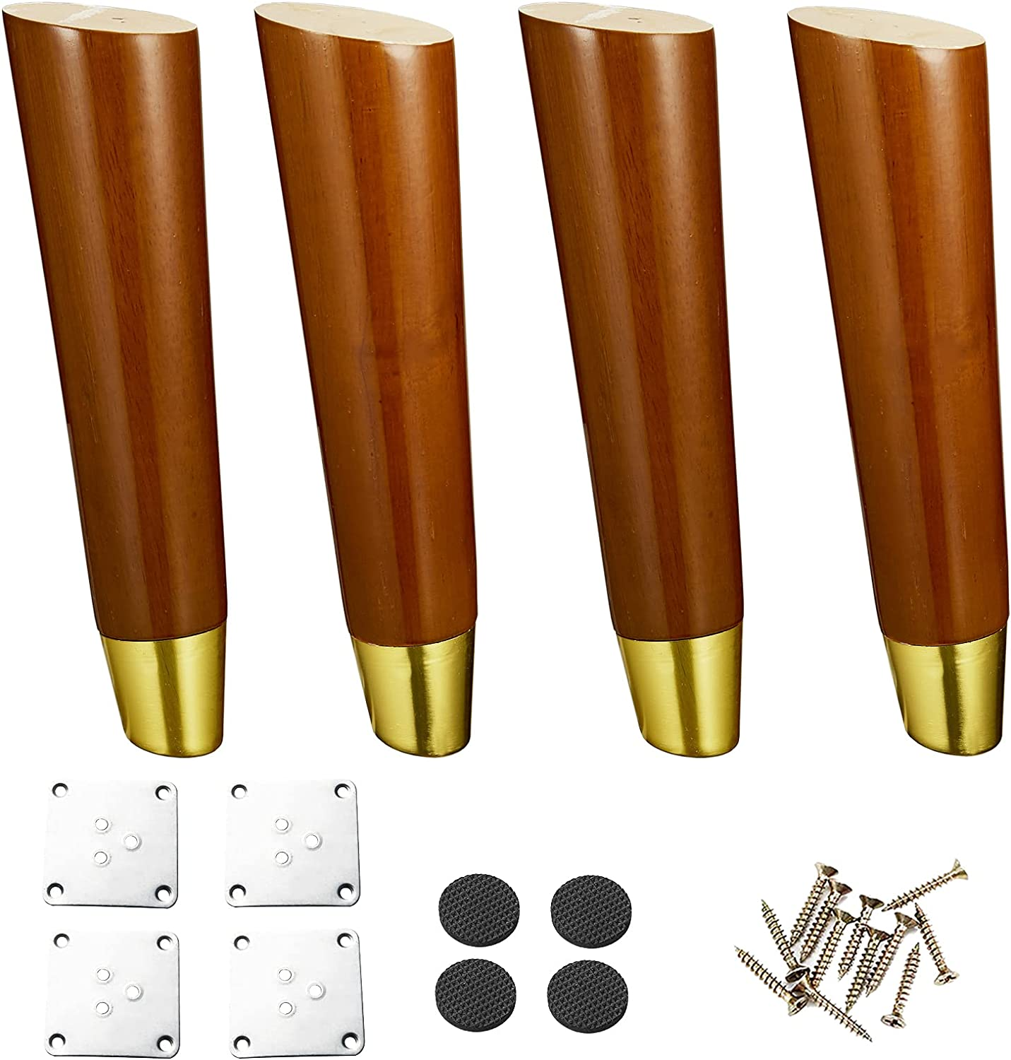 Wood Indianapolis Mall Furniture Legs 8 inch of Round 4 Pack Couch Baltimore Mall