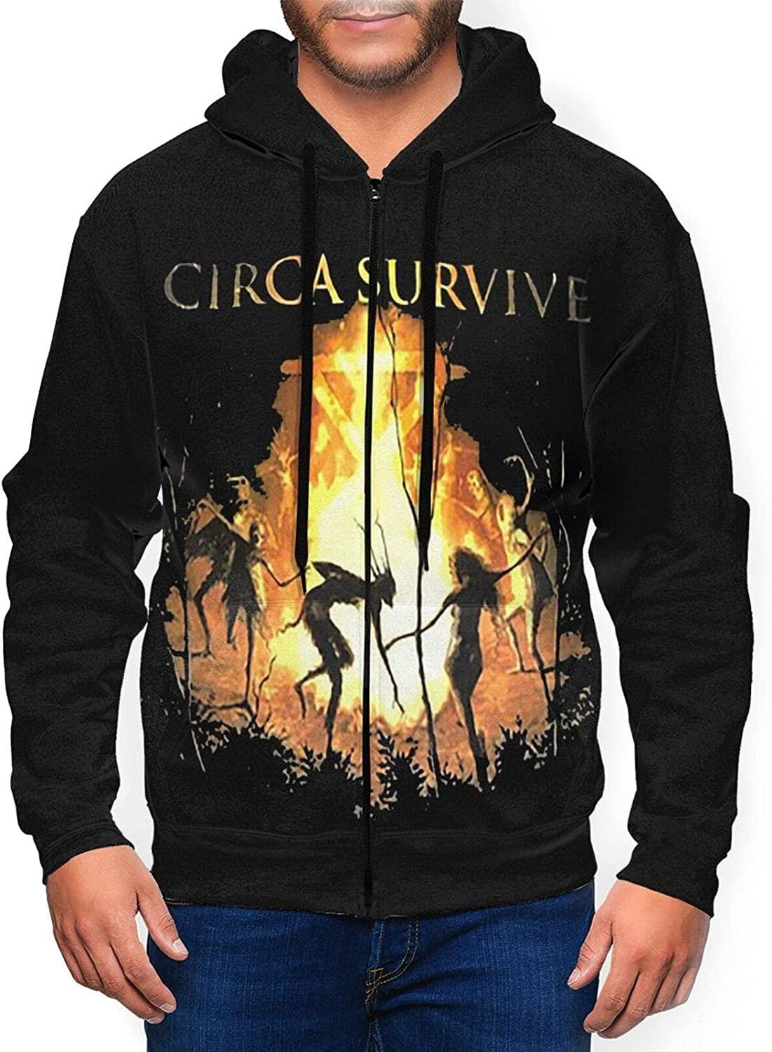 Circa Survive Men'S Hooded Industry No. 1 Zipper Purchase Casual Co Classic Jacket Shirt