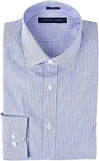 Men's Dress Shirts Non Iron Slim Fit Solid Spread Collar