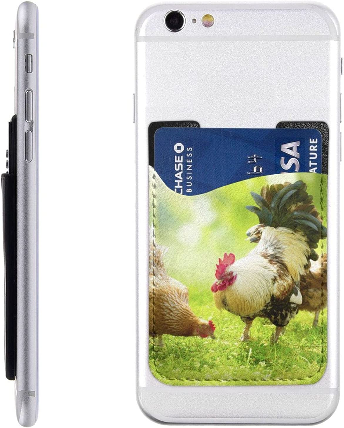 Beautiful Rooster Hen Max 43% OFF Phone Card On Holder Long Beach Mall Cell Stick