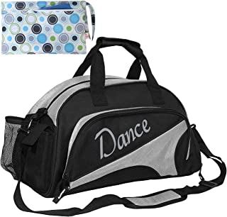 d74dbe8c6f kilofly Girl s Ballet Dance Sports Gym Duffel Bag Travel Carry On + Handy  Pouch