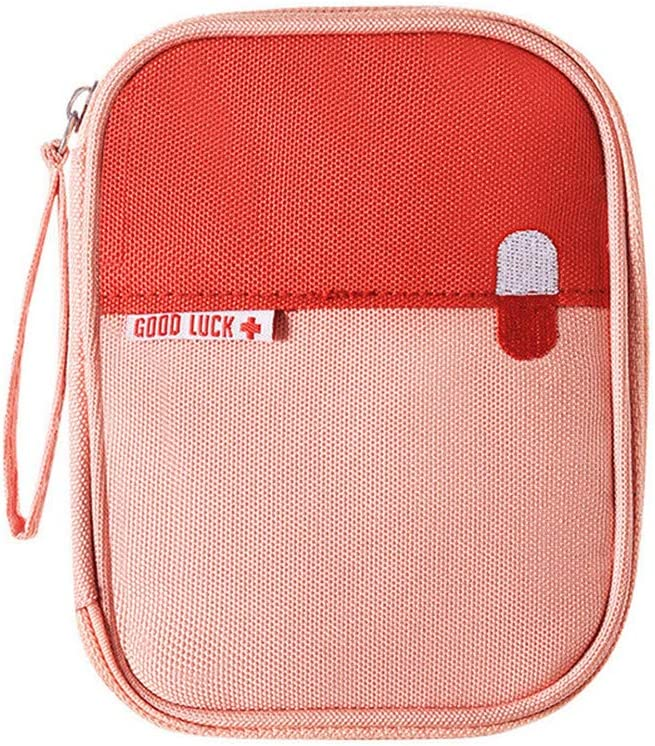 First Aid Kit online shop Bag Max 60% OFF Empty Travel Zippered Medication Pouch Ox Mini