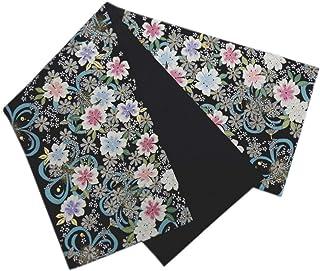 袋帯 正絹 お仕立上がり 振袖 成人式 着物 六通柄 西陣織 黒色地ラメ桜水色さくら
