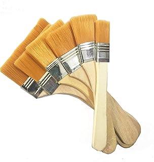 油絵用筆 ブラシペイント 木製 高品質 水彩筆 ペイント刷毛 画材筆 画材具 子供落書き用筆 6本セット (6個,A型)