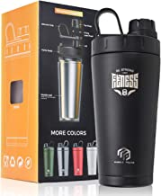 Stainless Steel Insulated Protein Shaker Bottle Protein Shaker Shaker Cup Shake Mixer Bottle Protein Mixes Water Bottle Double Wall Sweat-Proof Leakproof BPA Free 20 oz Black-Fit Estimated Price : £ 24,01