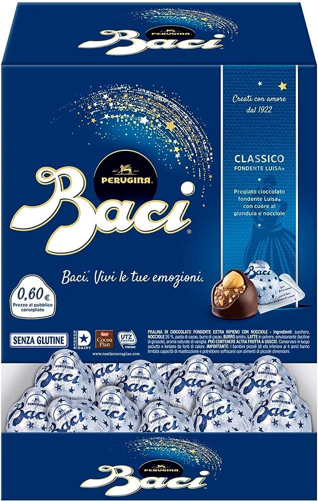 Baci perugina classico,cioccolatini ripieni alla gianduia e nocciola,intera scatola 192 cioccolatini ,2,4 kG