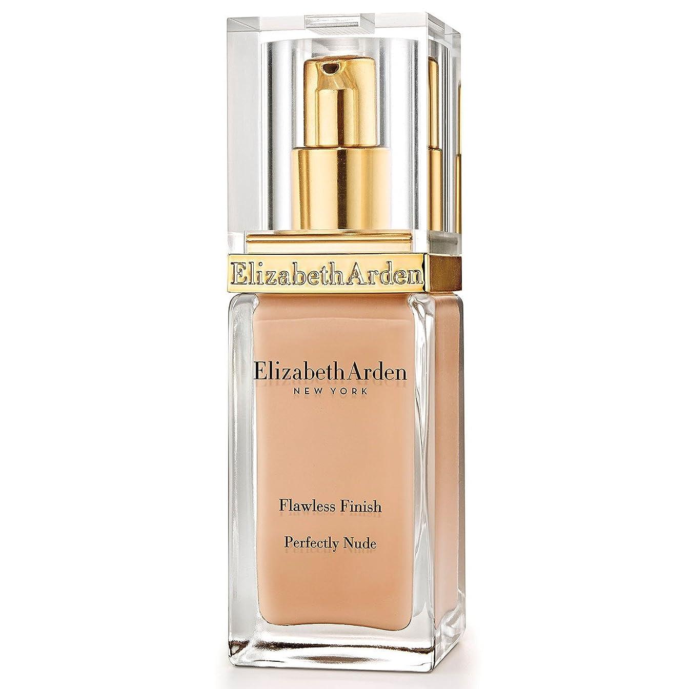 防腐剤サラミ会社Elizabeth Arden Flawless Finish Perfectly Nude Foundation SPF 15 Vanilla Shake - エリザベスは、完璧な仕上がり完璧ヌードファンデーション 15バニラシェイクをアーデン [並行輸入品]