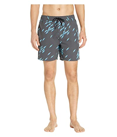 Reyn Spooner Fish Swarm Storm Swim Trunks (Obsidian) Men