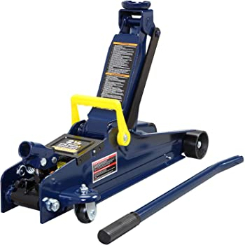 TCE ATZ830026XU Torin Hydraulic Ultra Low Profile Heavy Duty Steel Service//Floor Jack with Dual Piston Quick Lift Pump Blue 6,000 lb 3 Ton Capacity